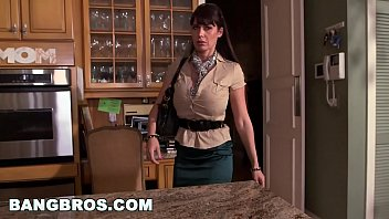 BANGBROS - MILF Stepmom Eva Karera Catches Teen Holly Hudson with Boyfriend